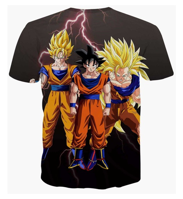 Dragon Ball Z Goku Vegeta Super Saiyan Armor 3D Anime Summer Casual Unisex T-shirt