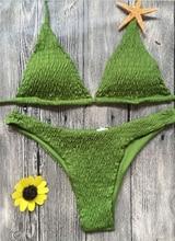 New Women Bikini Set 2017 Summer Sexy Crochet Push-up Padded Bra Swimsuit Swimwear Triangle Bathing Suit