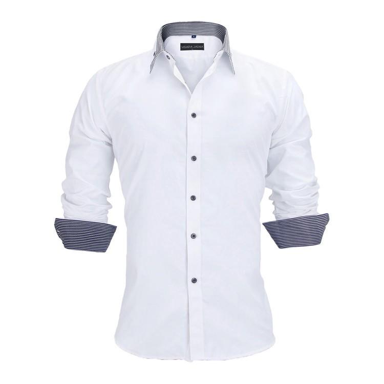 HTB1CGgVKFXXXXc5aXXXq6xXFXXXk - New Arrivals Slim Fit Male Shirt Solid Long Sleeve British Style Cotton Men's Shirt N332