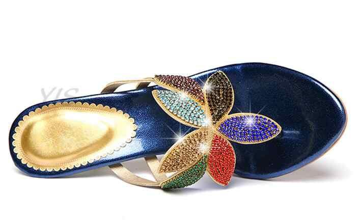 XGRAVITY Летняя обувь новые женские тонкие туфли-лодочки на каблуке пикантные туфли с украшением в виде кристаллов, с декоративной отделкой стразами женская обувь элегантные женские шлепанцы;, Вьетнамки B102