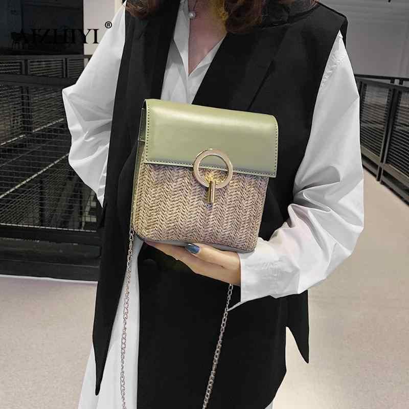 Jerami Ember Tas untuk Wanita 2019 Musim Panas Baru Fashion Tas Selempang Wanita Kecil Dompet dan Bolsa Feminina Dropshipping