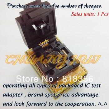 QFP44 לdip44 מתכנת מתאם FPQ-44-.8-19 FPQ44/QFP44 IC מבחן Socket 0.8 מ