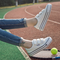 Sneakers Women White Walking Shoes 2018 Summer Spring Platform Increase Non Slip Casual For Woman Canvas