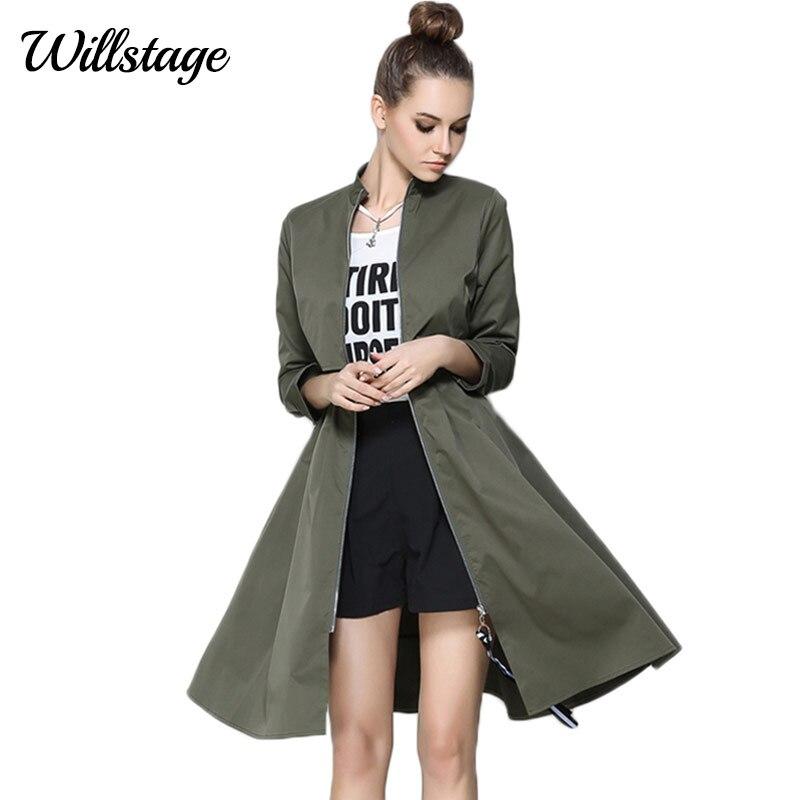 Willstage 2019 Jarní Falešné Dvoudílné Spodní Zipper Cardigan Šaty Ženy Neformální Elegantní Dlouhý rukáv Volný Módní příkop