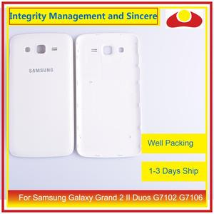 Image 2 - 10 pçs/lote para samsung galaxy grand 2 ii duos g7102 g7106 habitação porta da bateria traseira capa caso chassi escudo substituição