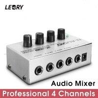 LEORY Профессиональный 4 канальный аудио DJ микшер DJ Mezclador музыка DJ микшерный пульт для аудио ПК домашний караоке мини