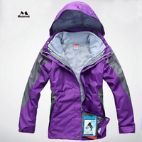 MAZEROUT 2017 Woman New Winter 3 in 1 Waterproof Skiing Warm Trekking Hiking Outdoor Jackets Thermal Camping Sports Plus Size J4