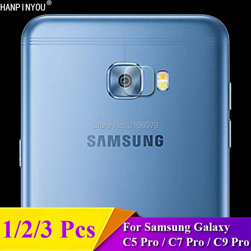 1/2/3 Pcs/Lot For Samsung Galaxy C5 C7 C9 Pro C5Pro C7Pro Rear Camera Lens Protective Protector Cover Soft Tempered Glass Film