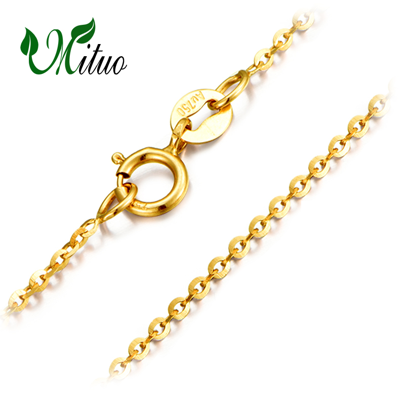 MITUO Genuine 18K Yellow Rose Gold Chain Cost Price Sale Pure 18K Gold Necklace for love Best Gift For women career ol necklaces yoursfs 18k rose white gold plated letter best mum heart necklace chain best mother s day gift