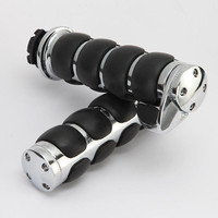 2x Non Slip Rubber Motorcycle 1 Handlebar Hand Bar Grips With Throttle Assist Universal For Harley