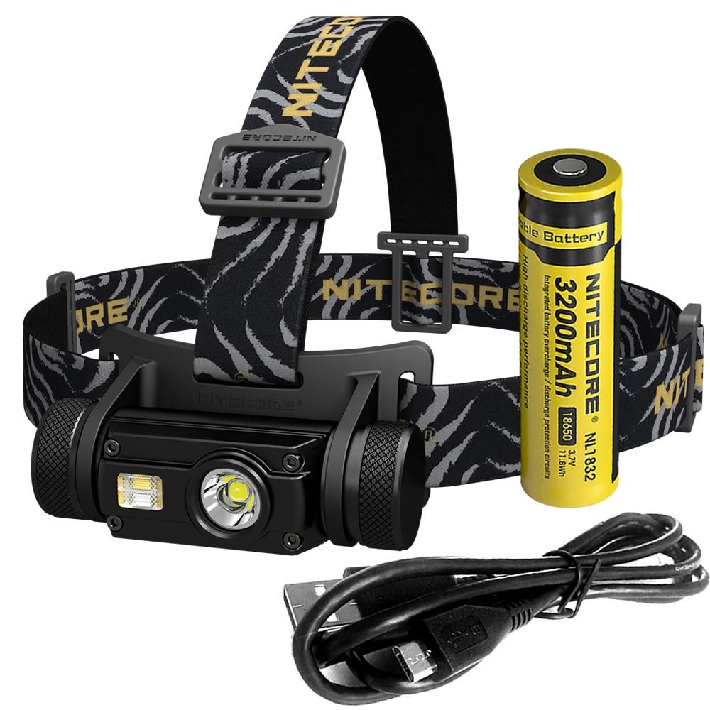 SALE NITECORE HC65 Headlamp CREE XM L2 U2 1000Lumes Rechargeable Headlight Waterproof Camping Travel 18650 Battery