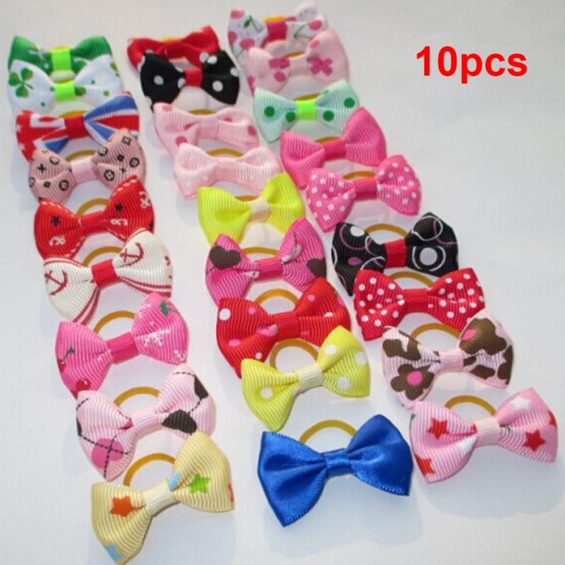 HTB1CGhZlvImBKNjSZFlxh743FXal - 10PCS Bowknot Cute Dog Rubber Band Handmade Pet Grooming Accessories