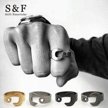 Fashion Vintage Ring Stainless Steel Rings For Man 2017 New Men Jewelry Usa Anel Punk Anillos Wrench Biker Bague Size 8