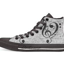 Love Music Повседневная Высокая холщовая обувь кеды для дропшиппинг