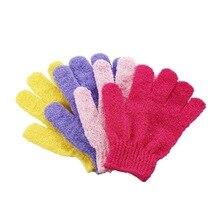 1pc Bath Cleaning Gloves Skin Exfoliating Wash Towel Five-Finger Shower Spa Massage Scrubber Glove Bathroom Accessories