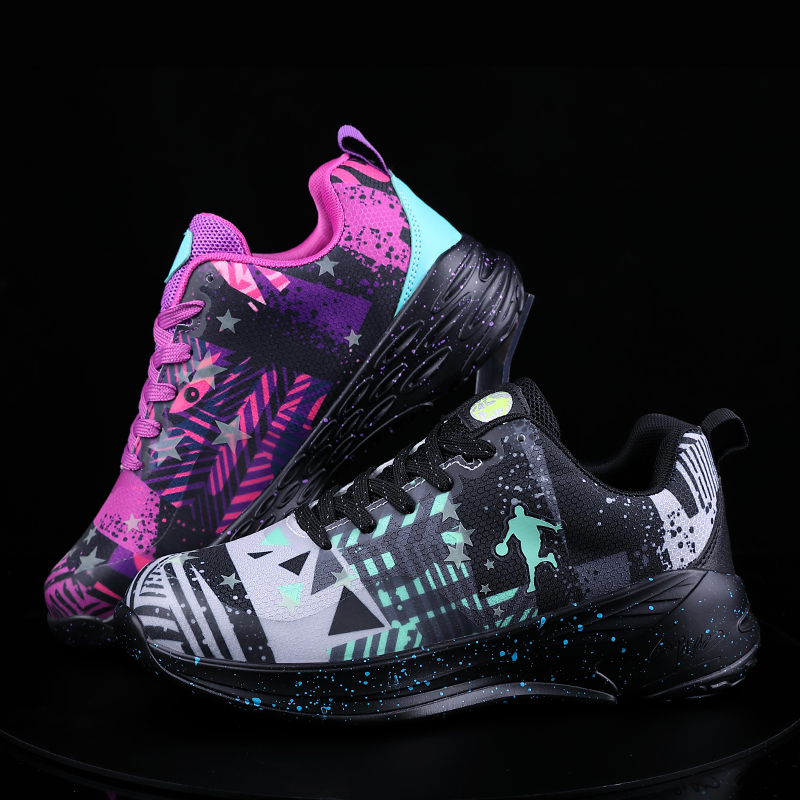 New Trend Unisex Basketball shoes Teenagers Training Ball Shoe Men Women Jogging Sneakers Boy Wild Street Tide shoe Big Size 47 in Basketball Shoes from Sports Entertainment