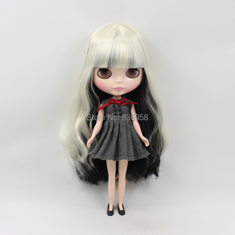 Nude Doll For Series No. BL313/9601 WHITE MIX BLACK HAIR цена