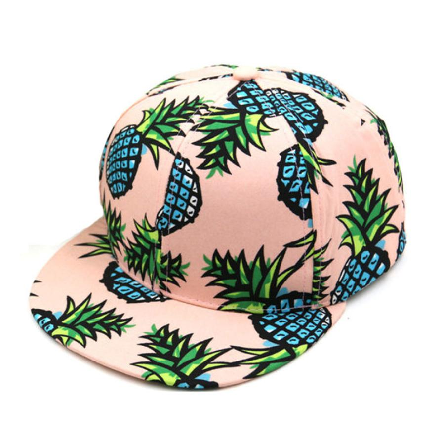 1PC Pineapple Snapback Bboy Hat hat summer beach   cap   Adjustable   Baseball     Cap   Hip-hop Hat Unisex women hat for party casquette A8