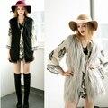 2016 New Autumn Winter Warm Casual Fashion Sleeveless Pocket Women Coat Faux Fur Long Vest Fur Coat Women Clothing 3XL plus size