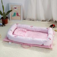 Infant Crib Bed Baby Crib Bumper Soft Breathable Cotton Cartoon Soft Bedding Sets Baby Soft Bed Cot