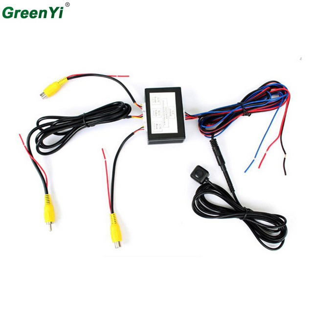 Умное управление двухканальным видеопереключателем для автомобильной камеры (автоматический переключатель для автомобиля) Подключение передней или боковой/задней камер