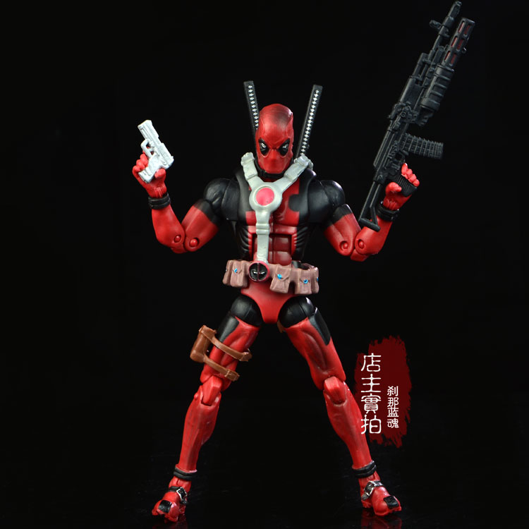 17cm Marvel Univers Super Heros Deadpool Action Figure Collection toys for christmas gift Weapons Free shipping