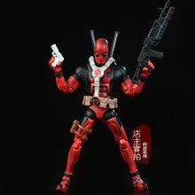 17 cm Marvel súper héroes Univers Deadpool Action Figure Collection juguetes para el regalo navidad armas envío gratis