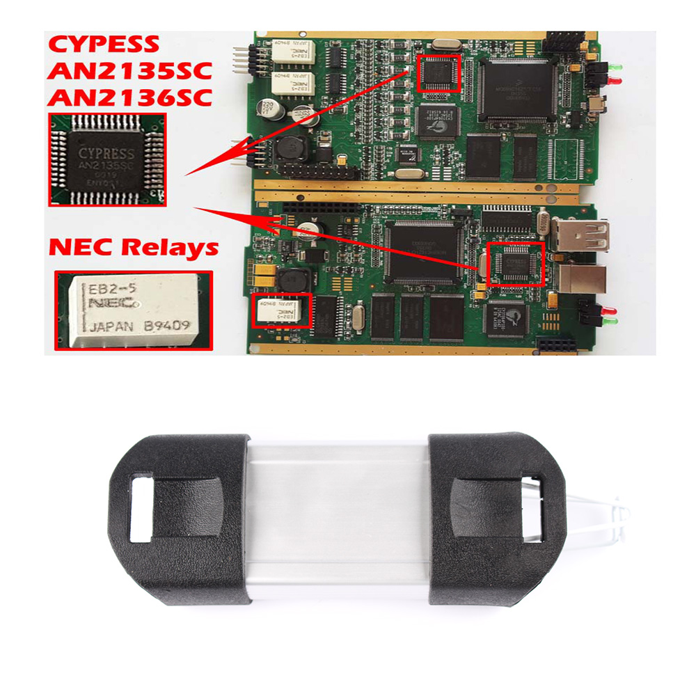 DHL Free for Renault CAN CLIP Golden PCB V159 Full Chip CYPRESS  AN2135SC/AN2136SC NEC Relay diagnostics auto Diagnostic tool-in Code  Readers & Scan Tools ...