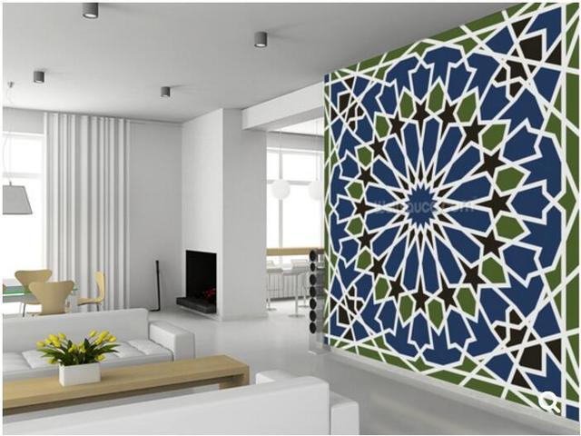 Behang Met Patroon : Custom art behang arabesque naadloze patroon voor de woonkamer