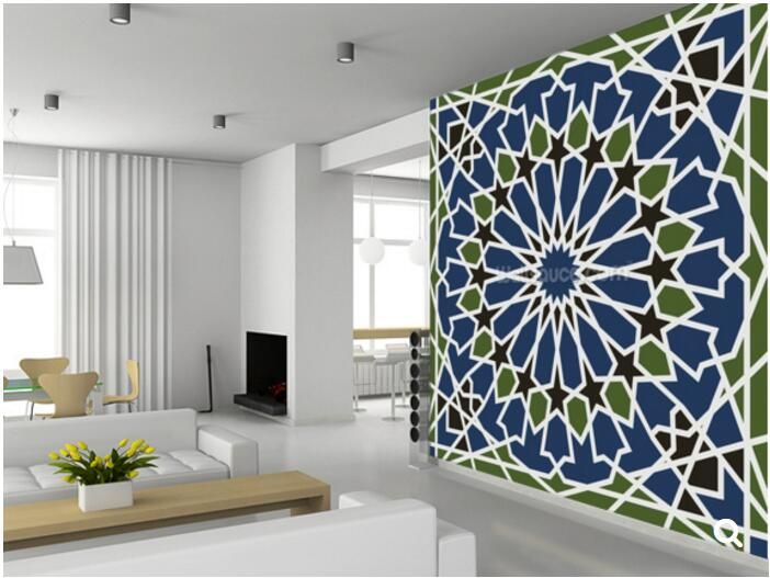 Custom art wallpaper,Arabesque seamless pattern,for the living room bedroom dining room ceiling background wall vinyl wallpaper custom ceiling wallpaper blue sky and white clouds murals for the living room apartment ceiling background wall vinyl wallpaper