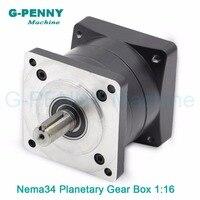 Gearbox1: 16 Nema34 stappenmotor planetaire overbrengingsverhouding 1:16 1:20 1:24 1: 30 planeet versnellingsbak 86mm motor hoge Koppel hoge kwaliteit