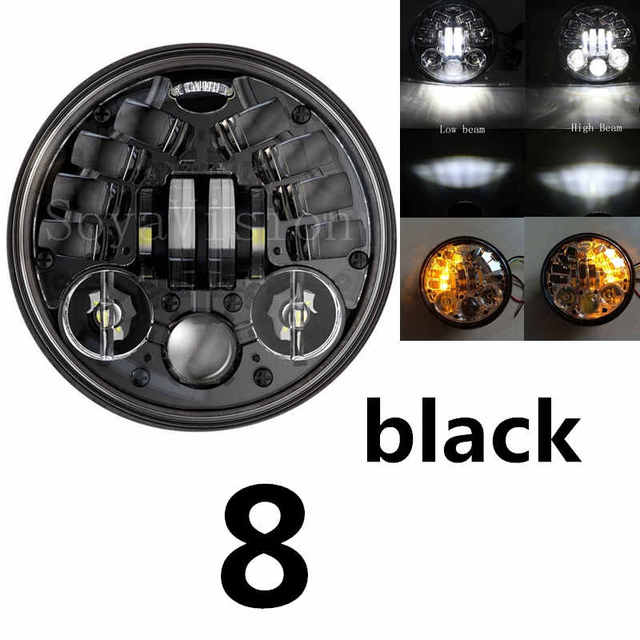 """5-3/4"""" Headlamp For Harley Dyna Sportster 1200 48 883 Parts DRL Turn Signal Light Motor 5.75 Inch Projector LED Moto Headlights"""
