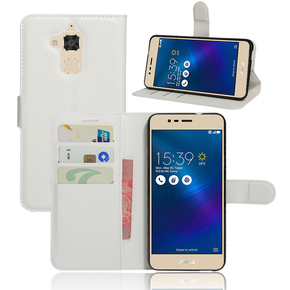 Luxury Leather Flip Case Fundas Para For Asus Zenfone 3 ...
