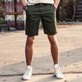 AIRGRACIAS Hot Sales Summer Men's Solid Color Casual Short Pants High Quality 100% Cotton Fashion Straight Short Trousers