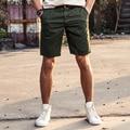 AIRGRACIAS Hot Sales Summer Men's Solid Color Casual Short Pants High Quality 100% Cotton Fashion Straight Short Trousers