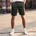AIRGRACIAS Vendas Quente de Verão Cor Sólida Casuais Calças Curtas dos homens de Alta Qualidade 100% Algodão de Moda Calças Retas Curtas