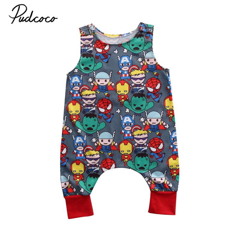 Summer 2017 Baby Kids Girl Boy Infant Summer Sleeveless Romper Harlan Jumpsuit Clothes Outfits 0-24M 2017 new adorable summer games infant newborn baby boy girl romper jumpsuit outfits clothes clothing