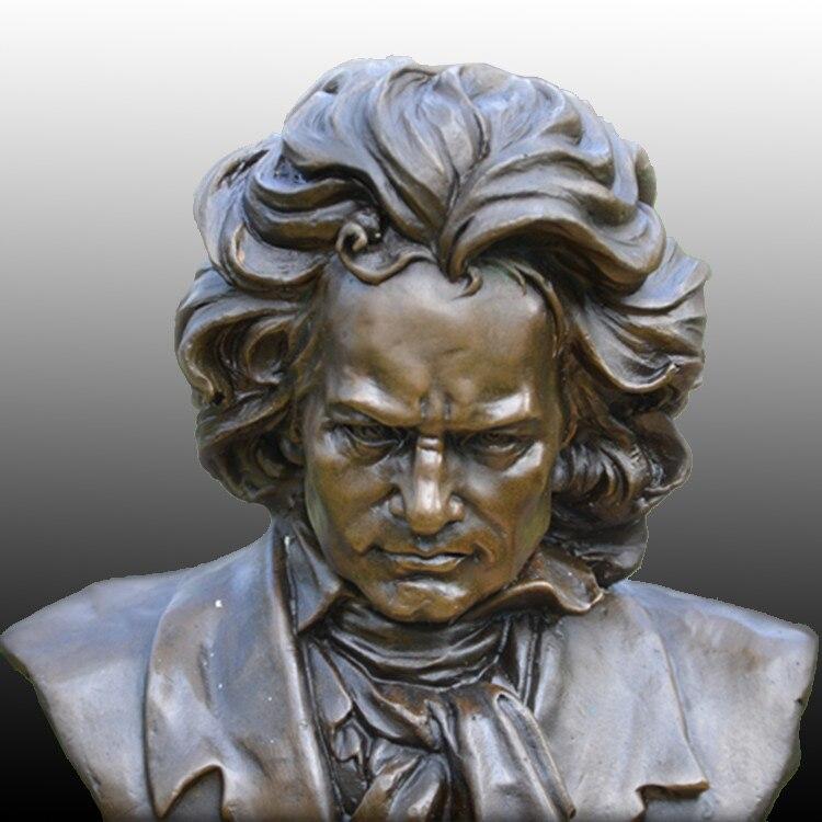Beethoven busto BRASS como compositor de música pianista estudo - Decoração de casa - Foto 4