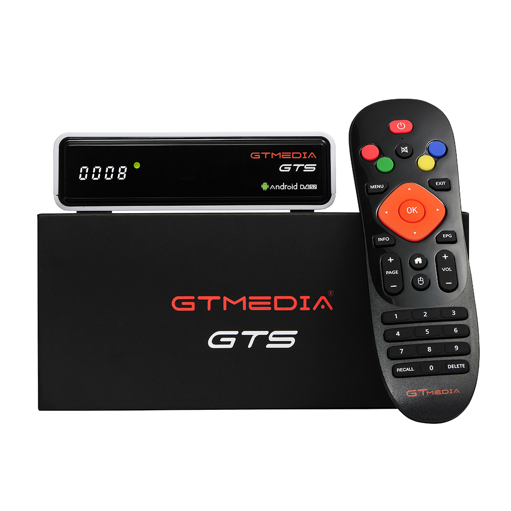 Image 5 - TV Box Android 6.0 2GB+8GB Amlogic S905D DVB S/S2 Satellite Receiver GTmedia GTC Decoder Set top Box For Smart TV with 4K Remote-in Set-top Boxes from Consumer Electronics