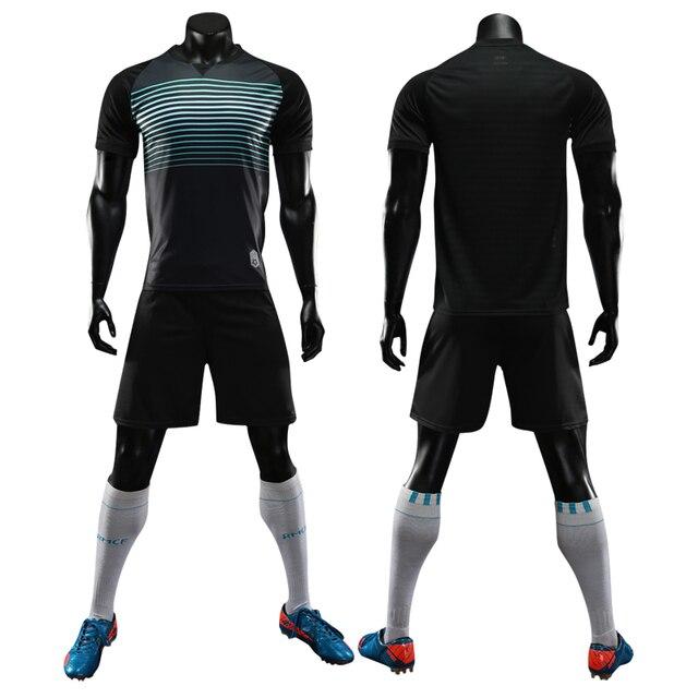 81a0eff20 Quick dry men kids soccer jersey set survetement football soccer training  suit breathable blank boys soccer