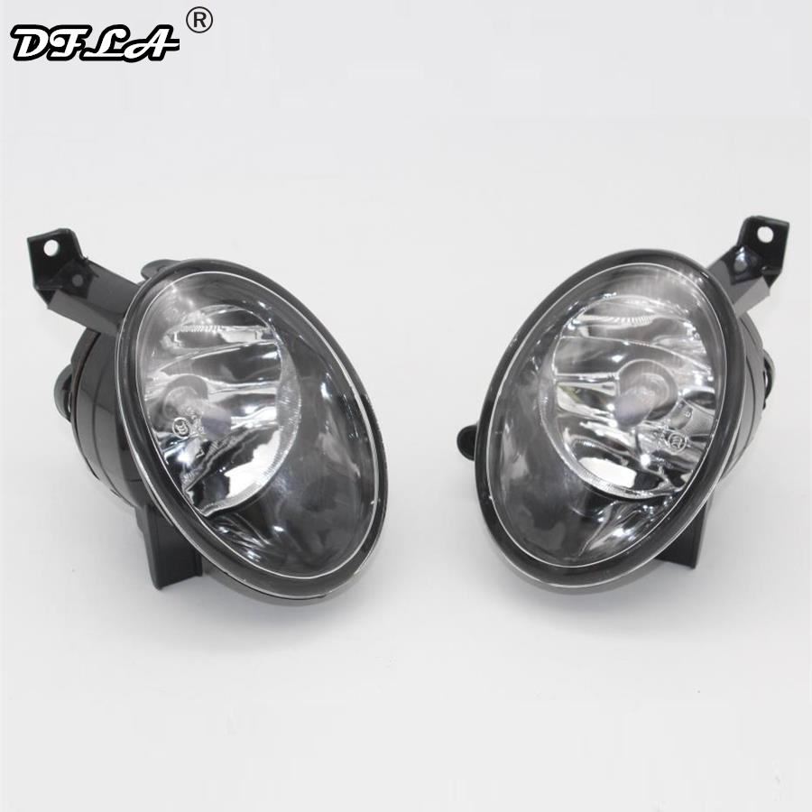 2pcs For VW Golf 6 Jetta 6 Caddy Touran Tiguan Car-Styling Front Halogen Fog Lamp Fog Light With Bulbs led license number plate light lamp 18smd for vw caddy transporter passat golf touran jetta for skoda no error