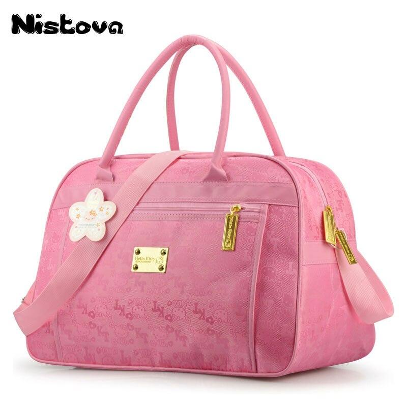 Pink end Capacità Week Impermeabile Gatto Viaggio Duffel Ciao Rosa Di Donne Crossbody Fumetto Del Alta Borse Bag Bagagli Tote Kitty gq7AaHxw