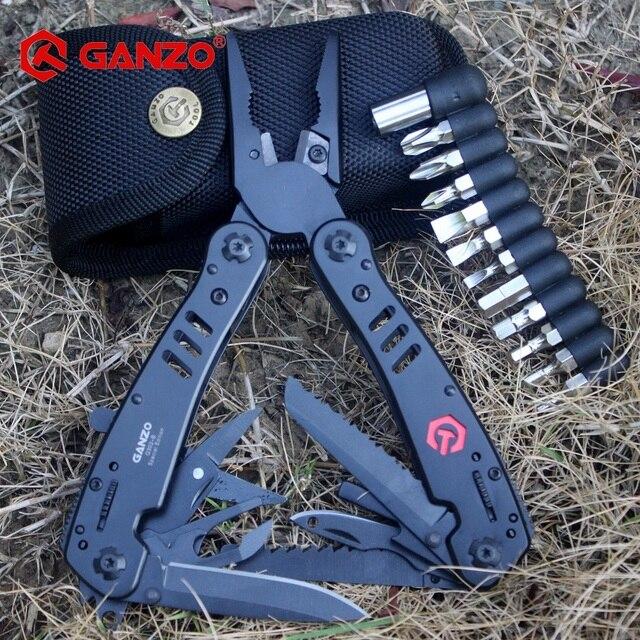 Ganzo pinces multi outil G302B G302H, pince à couteaux de survie pour pêche, pinces multioutil pliantes, couteaux de survie pour pêche