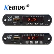 Kebidu DC 5 в 12 В Micro USB FM AUX 3,5 мм TF Радио MP3 декодер аудио доска для автомобиля дистанционного музыкального динамика