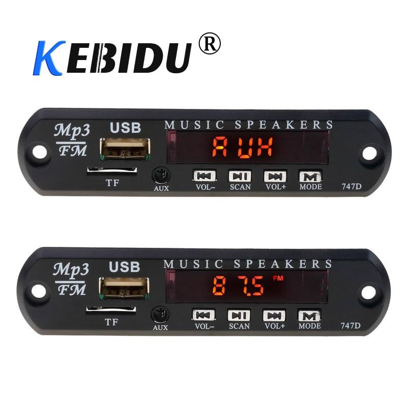 kebidu DC 5V 12V Micro USB FM AUX 3.5MM TF Radio MP3 Decoder Audio Board For Car Remote Music Speaker(China)
