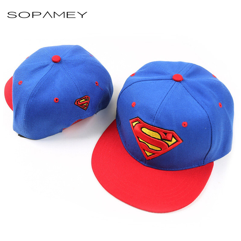 2016 New Brand Children Superman Snapback Hats Baseball Cap Boys And Girls Kids Fashion Hip Hop Caps Baby Casquette Hat autumn winter baby hats new fashion children warm ball hat double color boys and girls cotton caps beanies baby knitted hat