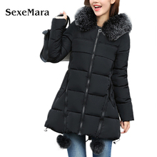 Brand SexeMara Women winter coat 2017 women warm outwear cotton Jacket coat Womens Clothing High Quality TA1018