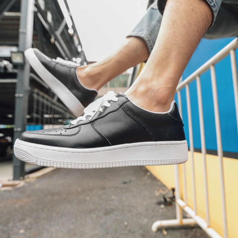 c03c45885 Прогулочная обувь 2019 весенние белые туфли, дышащие мужские повседневные  туфли на плоской подошве, прогулочная