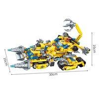 619Pcs 8In1 Set Ninjagoe Vehicle Robot Chariot Model Building Blocks Technic Educational DIY Toys For Kids