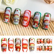 Water Transfer Nail Art Sticker Lovely Doll Design Sliders f